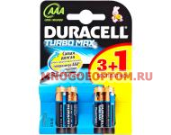 DURACELL TURBO MAX LR03 3+1 шт BL4